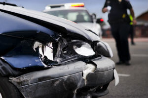 compensation for crash with police car